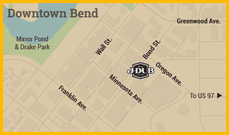 Map of Downtown Bend, Oregon